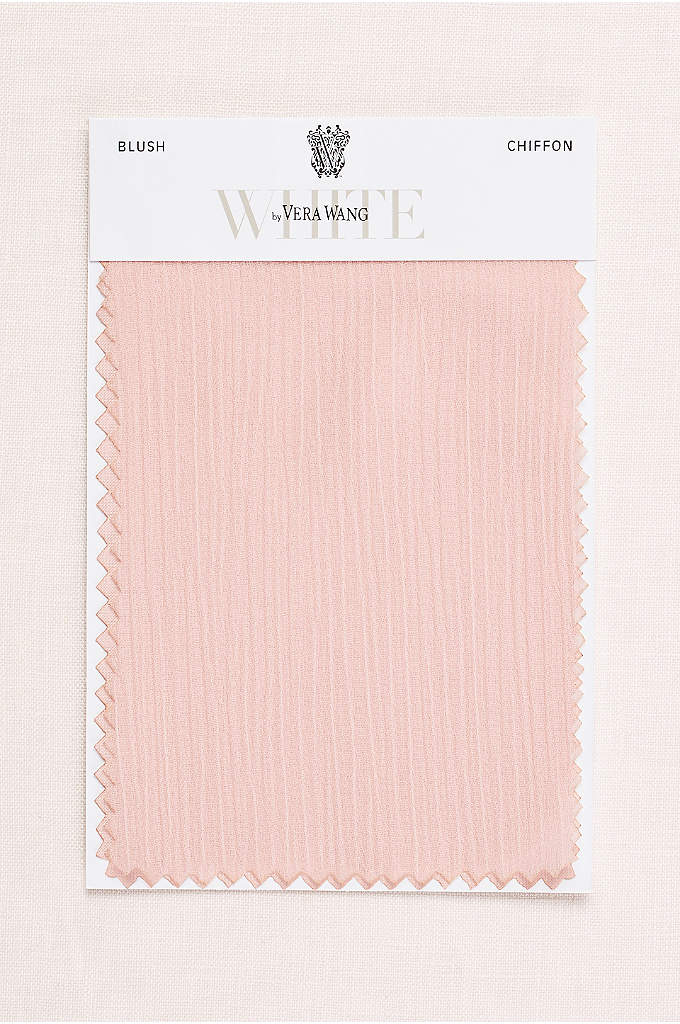 Blush Crinkle Chiffon Fabric Swatch - The slight texture on our lightweight crinkle chiffon