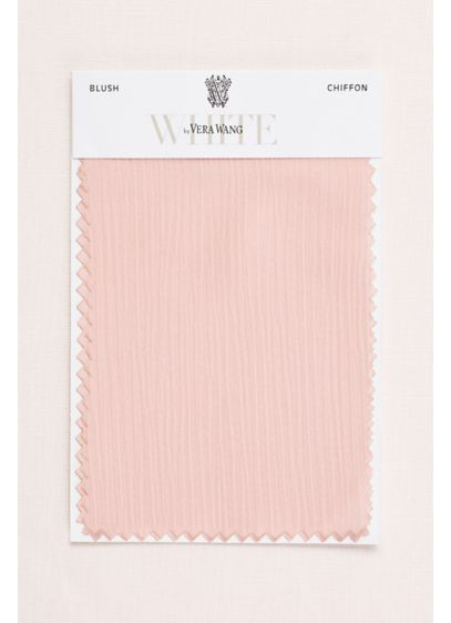 Blush Crinkle Chiffon Fabric Swatch David S Bridal