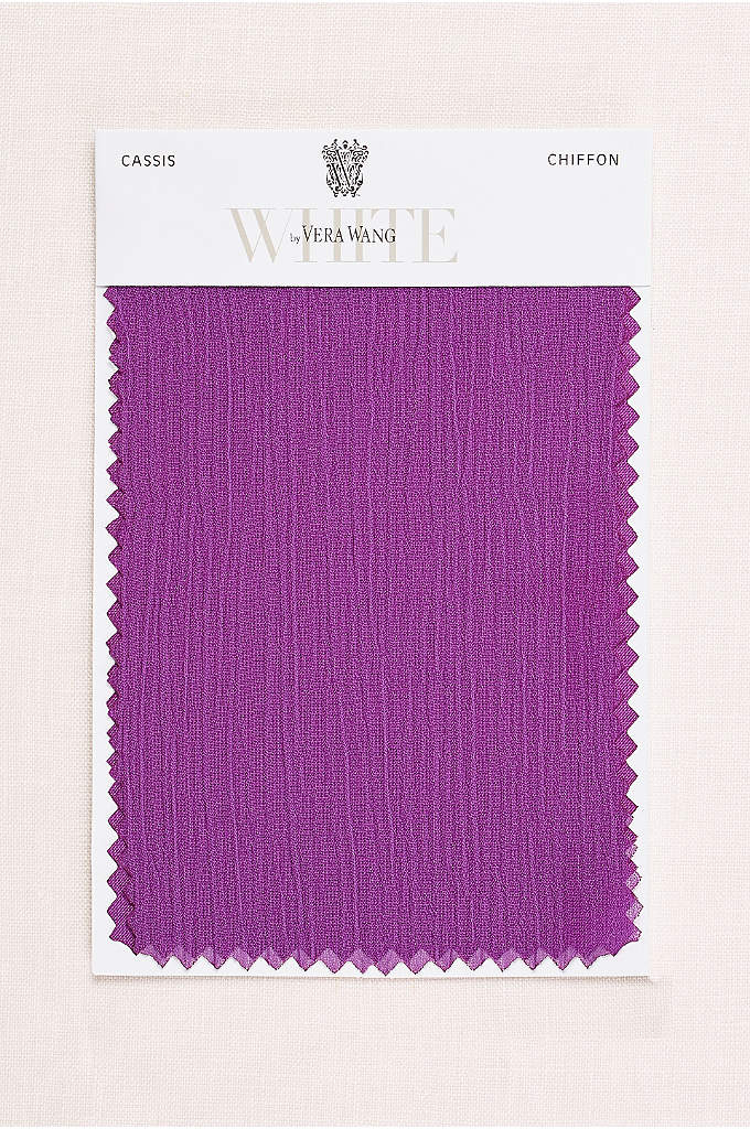 Cassis Crinkle Chiffon Fabric Swatch - The slight texture on our lightweight crinkle chiffon