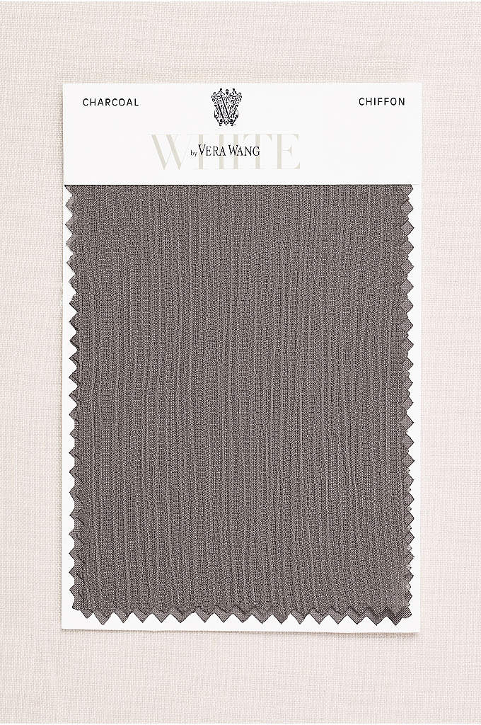 Charcoal Crinkle Chiffon Fabric Swatch - The slight texture on our lightweight crinkle chiffon