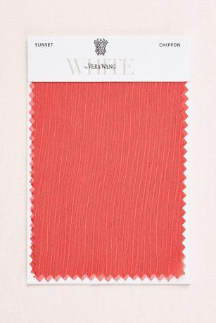 Sunset Crinkle Chiffon Fabric Swatch | David's Bridal