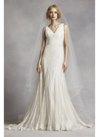 White by Vera Wang Ivory (Flat Two Tier Cathedral Veil)