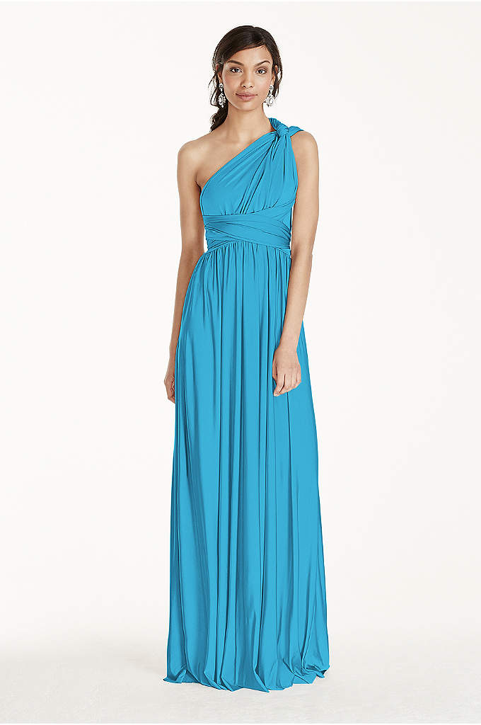 Long Jersey Style-Your-Way 2 Tie Bridesmaid Dress - The options are endless with this versatile floor-length