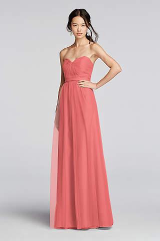 Coral Bridesmaid Dresses Short Long Davids Bridal