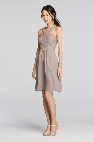 Soft & Flowy Short Bridesmaid Dress