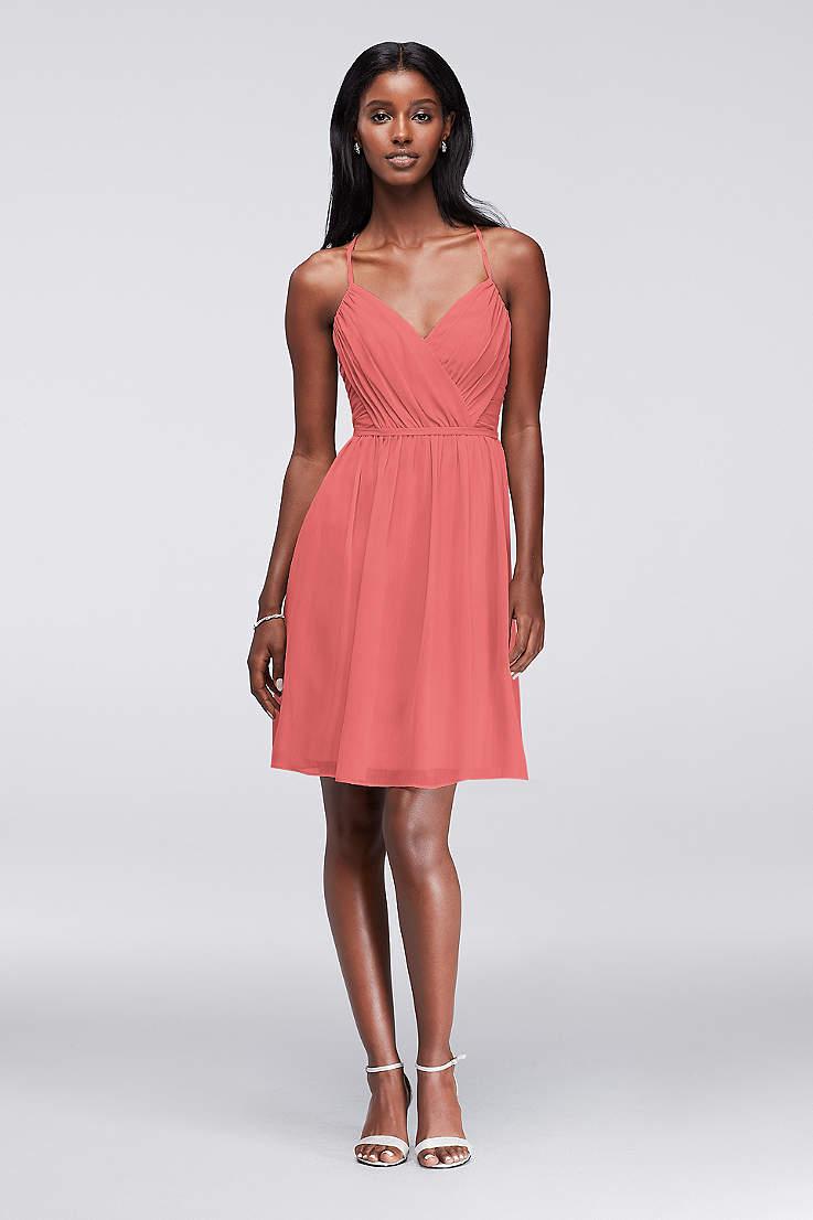 Soft   Flowy David s Bridal Short Bridesmaid Dress 8a6ab6c29