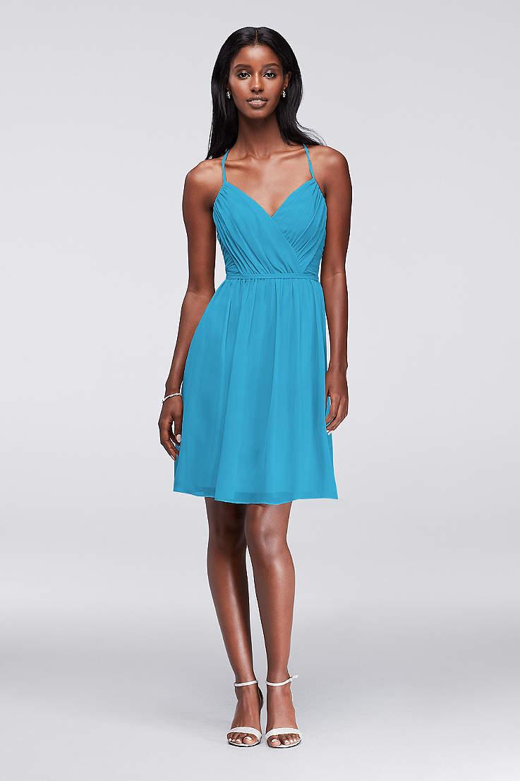 ce51b5f847 Soft & Flowy David's Bridal Short Bridesmaid Dress