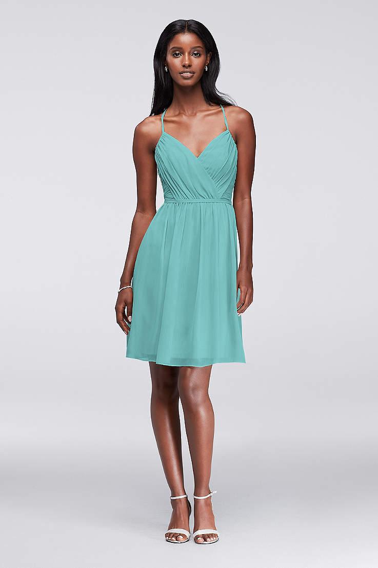 Soft   Flowy David s Bridal Short Bridesmaid Dress 815e35240cbf