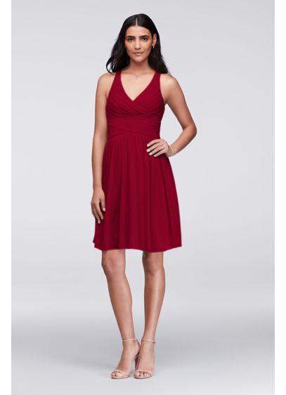 74b64a1857 Short Pink Soft   Flowy David s Bridal Bridesmaid Dress