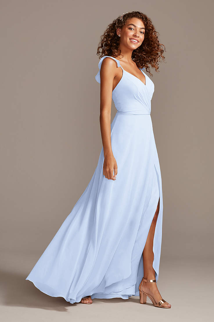 Ice Blue Dresses Gowns David S Bridal