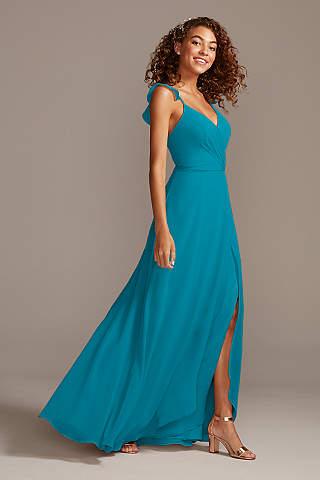 Teal Bridesmaid Dresses Short Long Styles David S Bridal