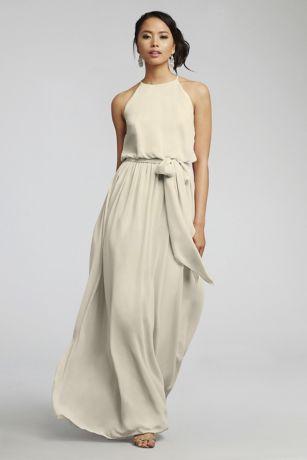 Long Sheath Halter Dress - Donna Morgan