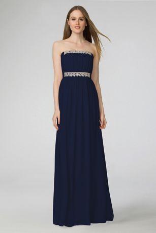 Long Sheath Strapless Dress - Donna Morgan