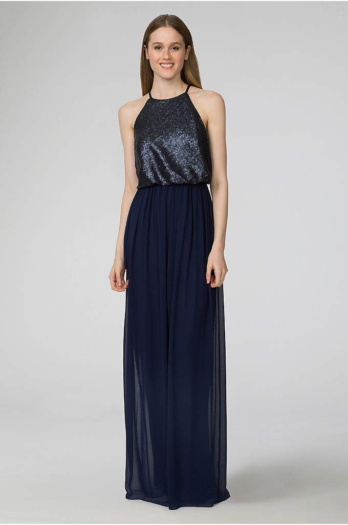 Hannah Sequin and Chiffon Bridesmaid Dress - Combining the sophisticated appeal of separates with the