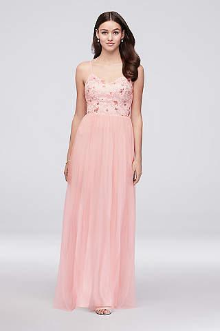 Pink Prom Dresses Hot Light Pink Davids Bridal