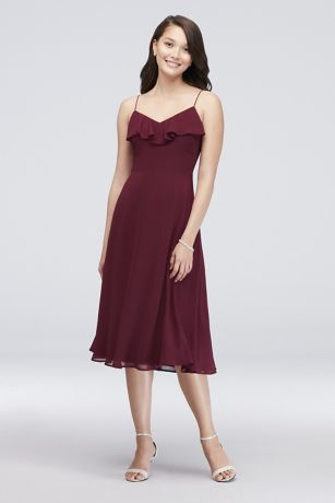 Short Sheath Spaghetti Strap Dress - Reverie