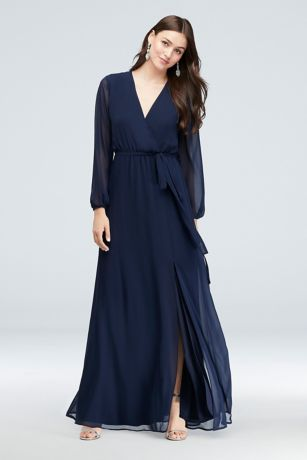 Long Ballgown Long Sleeves Dress - DB Studio
