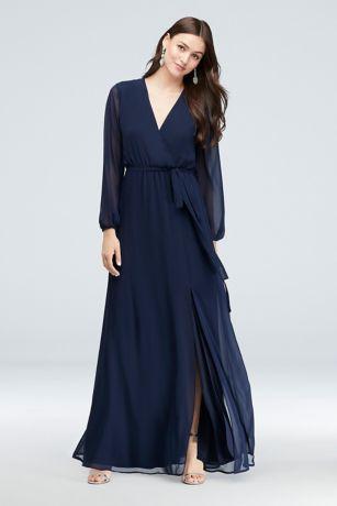 Long A-Line Long Sleeves Dress - DB Studio
