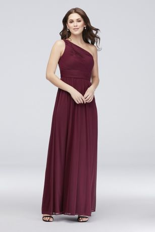 Long Sheath One Shoulder Dress -