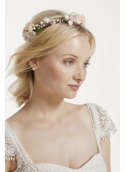 Shades of Roses Flower Crown - Wedding Accessories