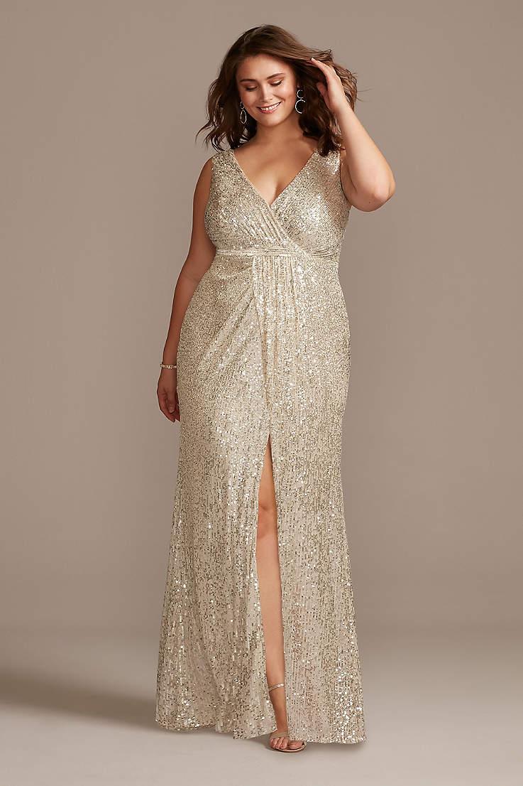 Plus Size Evening Dresses Champagne