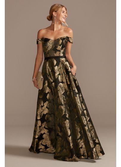 Long Ballgown Off the Shoulder Guest of Wedding Dress - David's Bridal