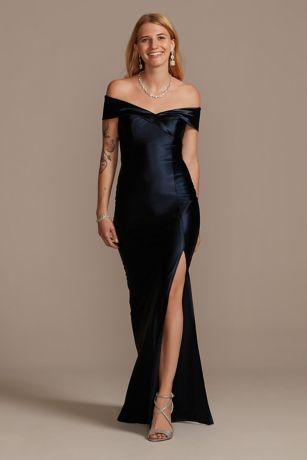 Long Sheath Off the Shoulder Dress - David's Bridal