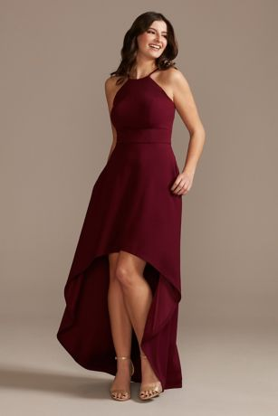 High Low A-Line Halter Dress - DB Studio