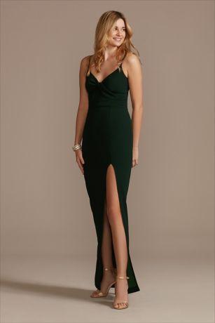 Long Sheath Spaghetti Strap Dress - DB Studio