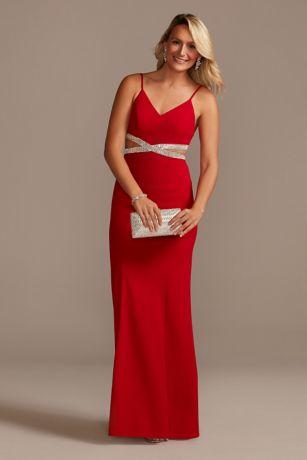 Long Sheath Spaghetti Strap Dress -