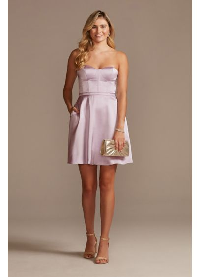 Short A-Line Strapless Sweet 16 Dress - Jules and Cleo