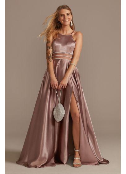 Long A-Line Halter Prom Dress - David's Bridal