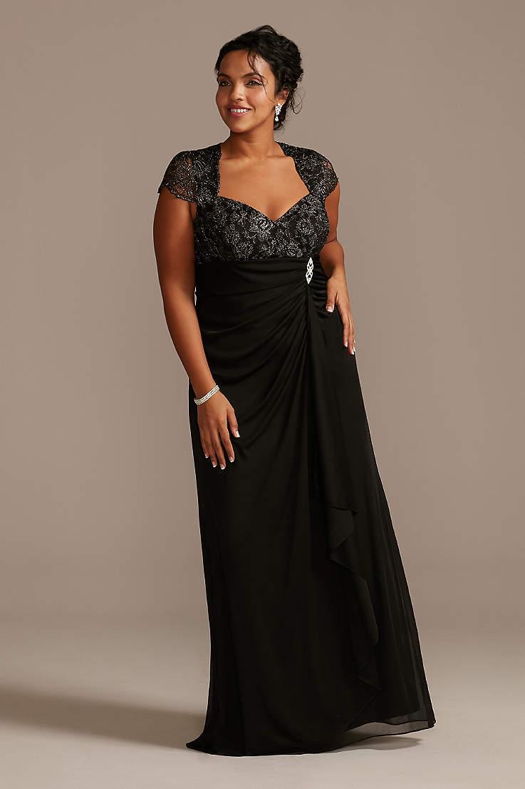 Plus Size Black Dresses & Gowns   David's Bridal