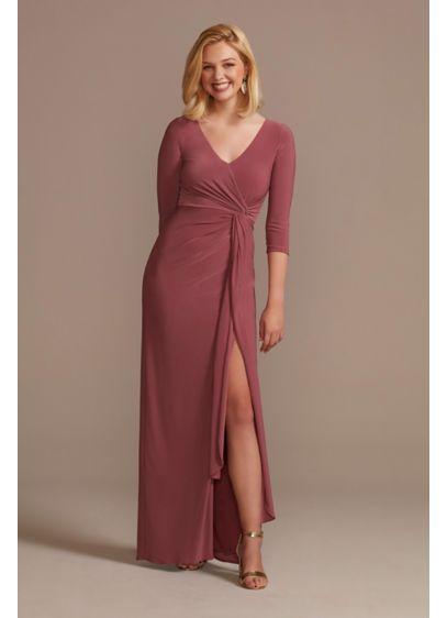 Long Sheath 3/4 Sleeves Formal Dresses Dress - Oleg Cassini