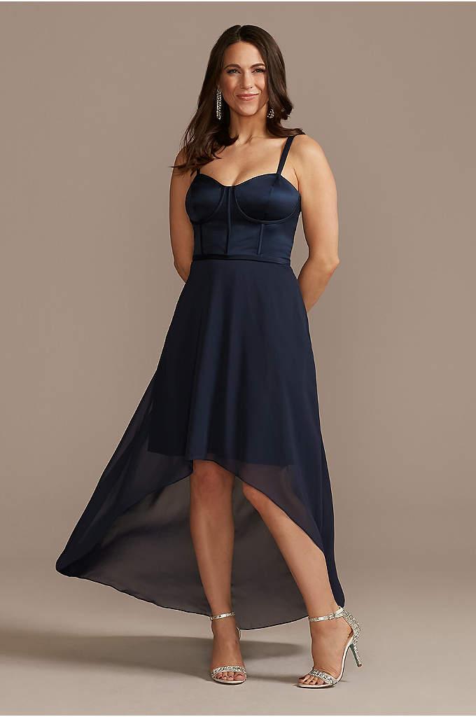 Chiffon Corset Bodice High-Low Dress