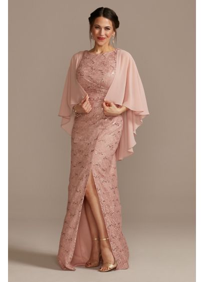 Long Sheath Capelet Guest of Wedding Dress - Oleg Cassini