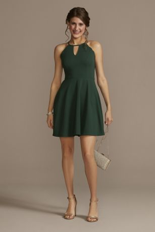Short A-Line Halter Dress - Jules and Cleo