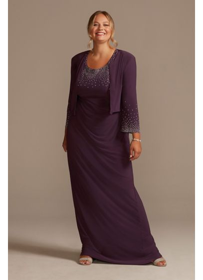 Long Sheath Jacket Formal Dresses Dress - Oleg Cassini