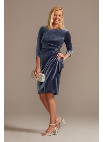 Short Sheath 3/4 Sleeves Cocktail and Party Dress - Oleg Cassini