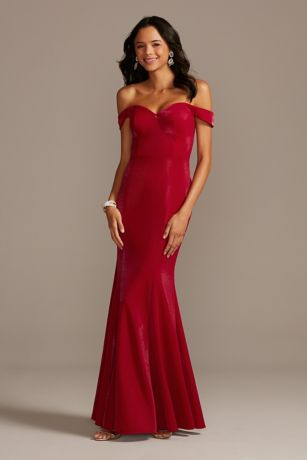 Long Mermaid / Trumpet Off the Shoulder Dress - David's Bridal