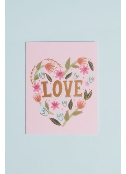 Floral Love Greeting Card with Envelope - Spread the love and warm sentiments with this
