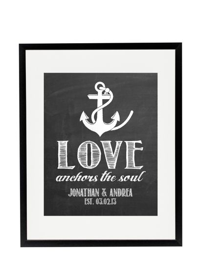 Personalized Anchor Wedding Sign - Wedding Gifts & Decorations