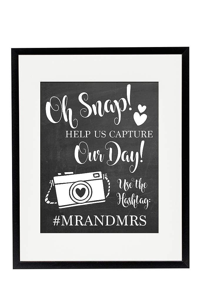Personalized Oh Snap Wedding Hashtag Sign - Ask your wedding guests to hashtag social media