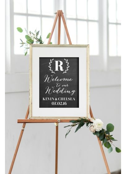 Wedding Welcome Sign.Personalized Monogram Wreath Wedding Welcome Sign