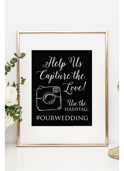 (Personalized Wedding Hashtag Reception Sign)