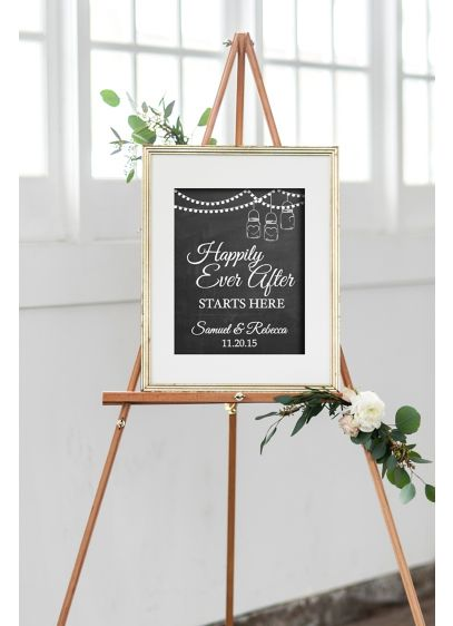 (Personalized Happily Ever After Wedding Sign)