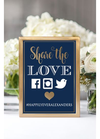 (Personalized Share the Love Wedding Hashtag Sign)