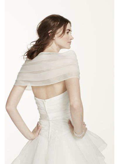 Organza Wrap with Front Clasps - Wedding Accessories