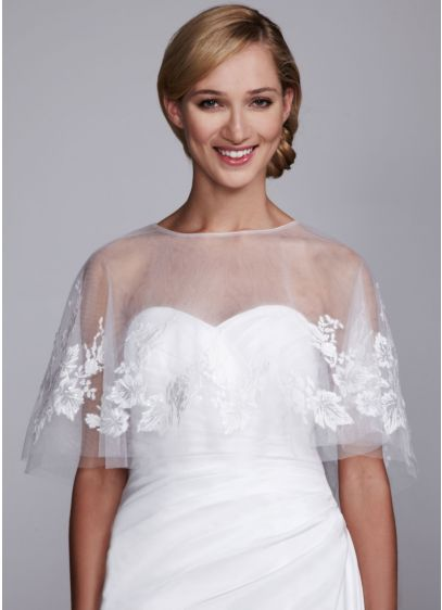 Tulle Lace Cape - Wedding Accessories