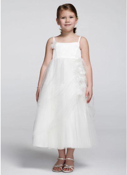 Short Ballgown Spaghetti Strap Communion Dress - David's Bridal